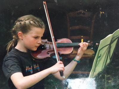 Pauline Dangleterre, professeur de violon au stage de musique Accordissimo