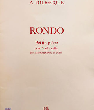 Partition - Rondo - Auguste Tolbecque