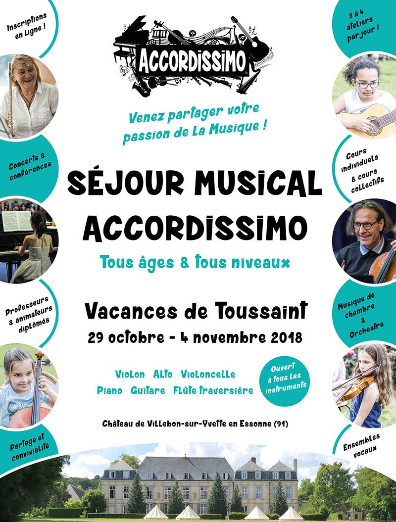 Stage de musique Accordissimo - Vacances de Toussaint 2018