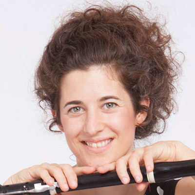 Julie Huguet, professeur de flûte traversière au stage de musique Accordissimo
