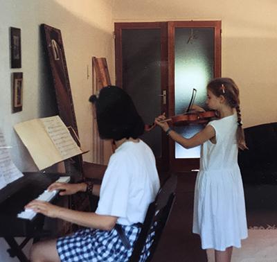 Millie Floutier, professeur de violon au stage de musique Accordissimo