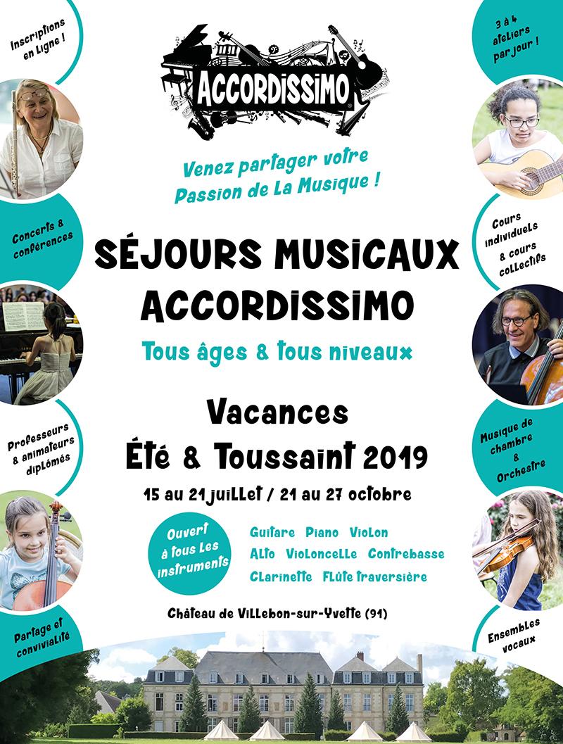 Stage de musique Accordissimo, vacances d'Été et de Toussaint 2019