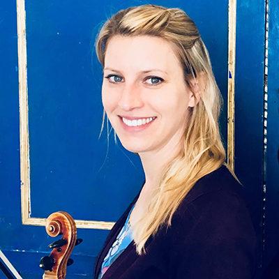 Jessica Frey, professeur de violon et de violon baroque au stage de musique Accordissimo